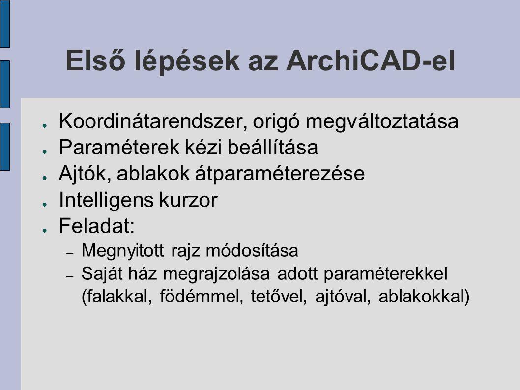Első lépések az ArchiCAD-el