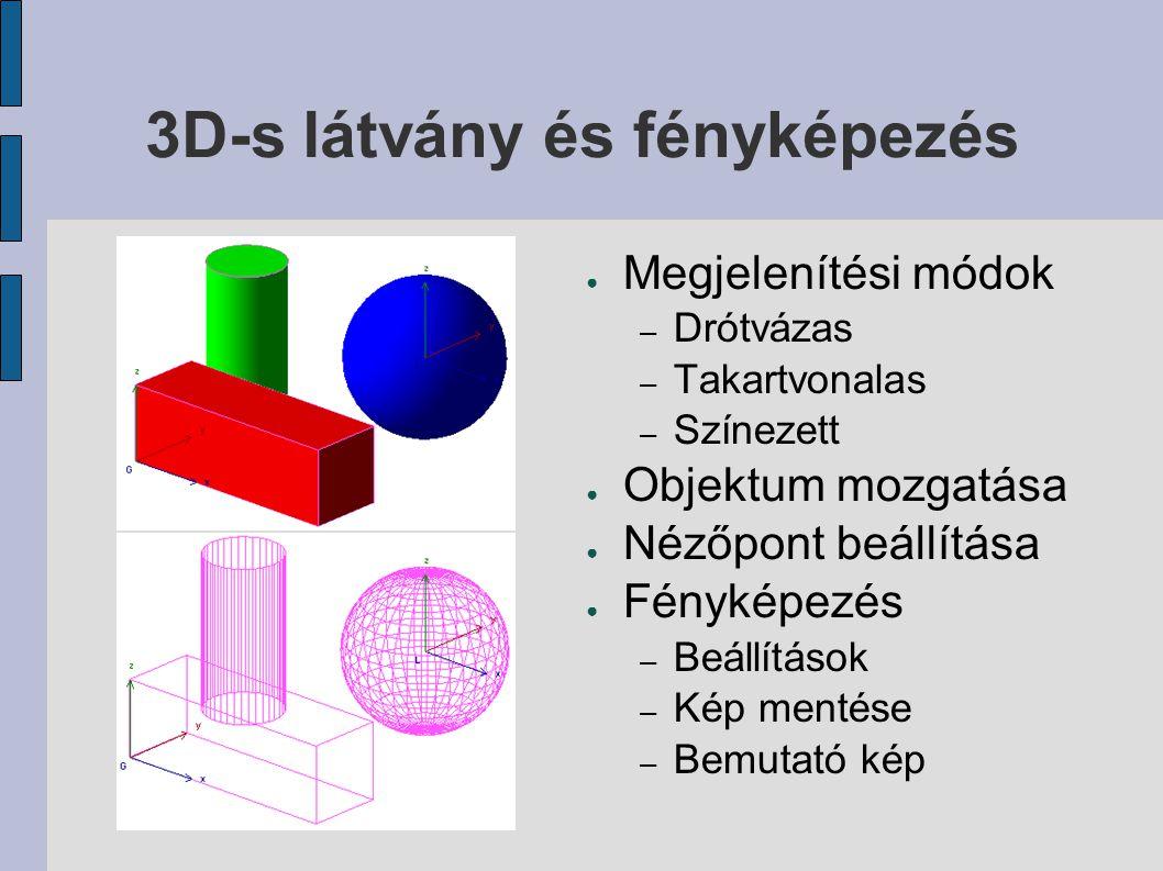 3D-s látvány és fényképezés