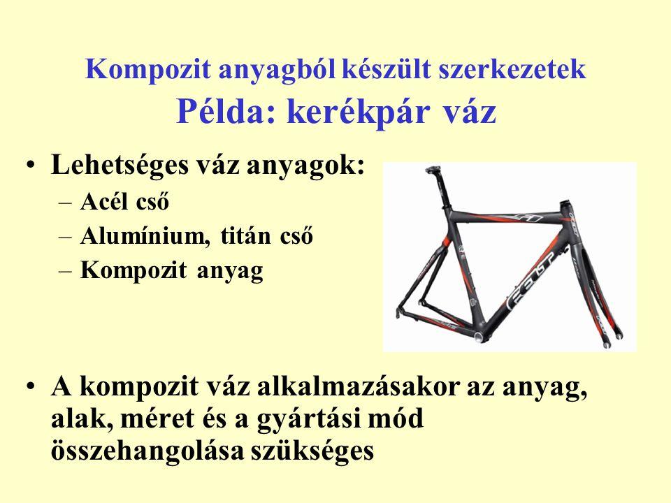 Kompozit anyagból készült szerkezetek Példa: kerékpár váz