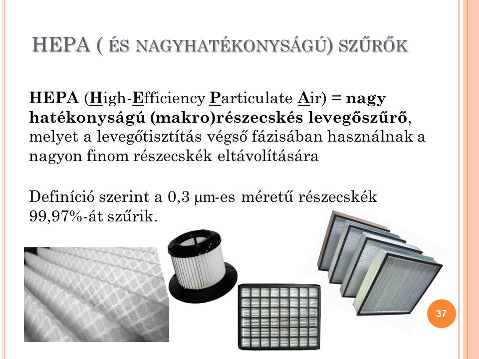 HEPA ( és nagyhatékonyságú) szűrők