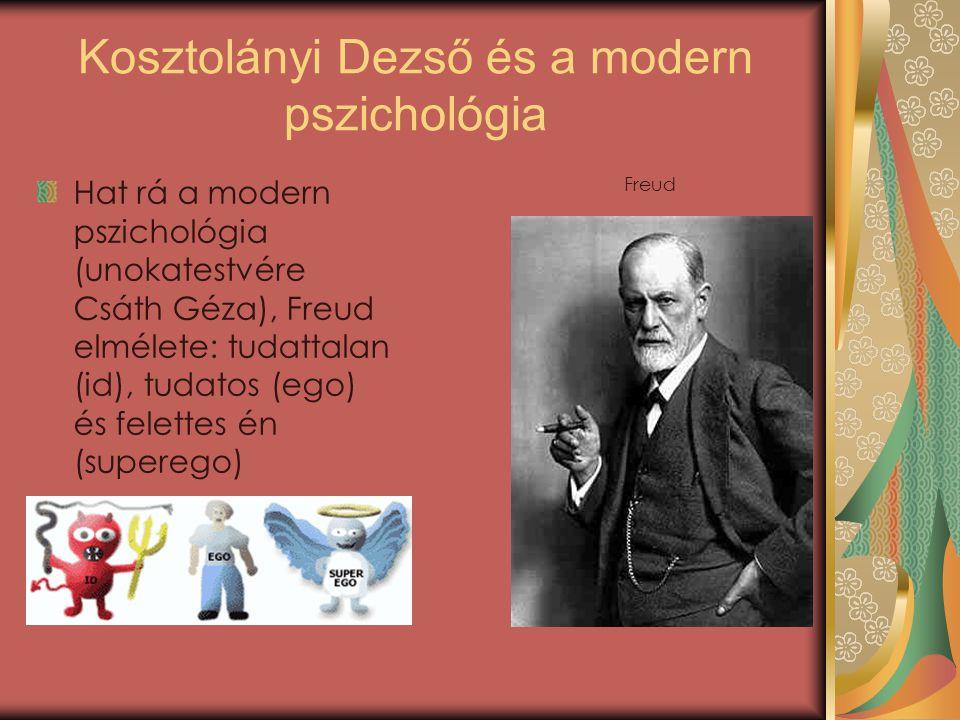 Kosztolányi Dezső és a modern pszichológia