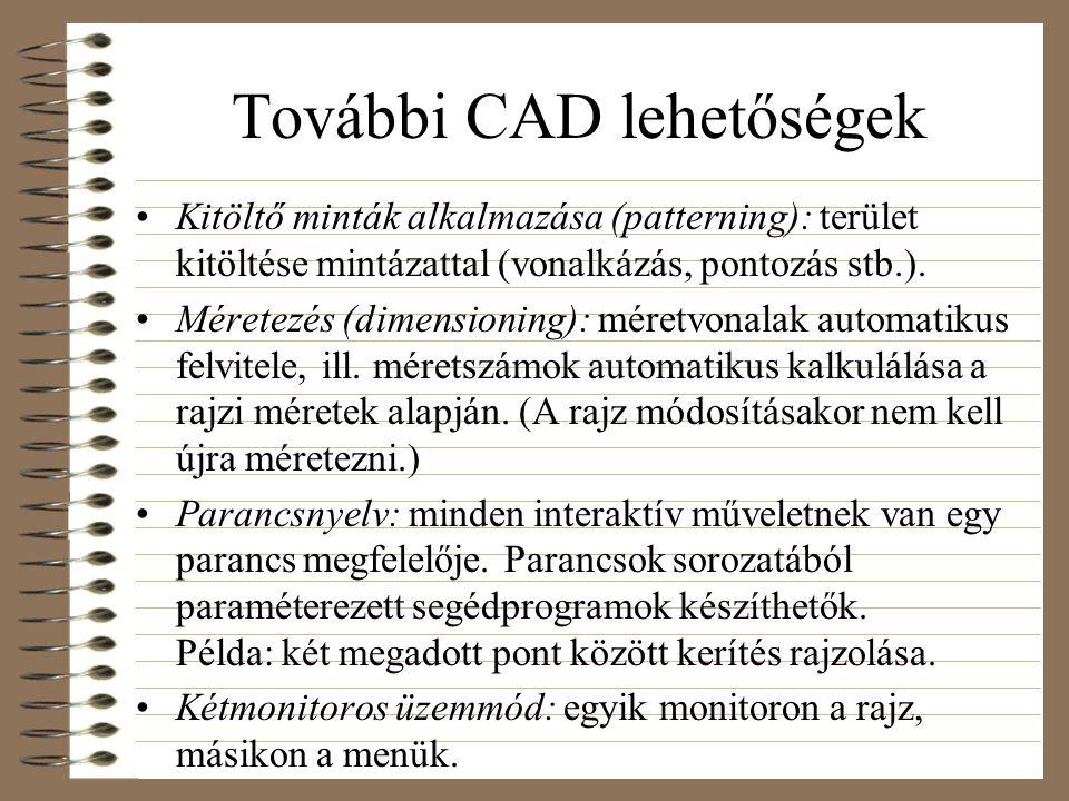További CAD lehetőségek