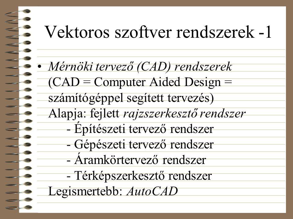 Vektoros szoftver rendszerek -1