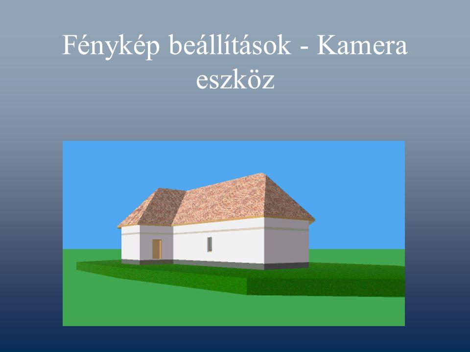 Fénykép beállítások - Kamera eszköz