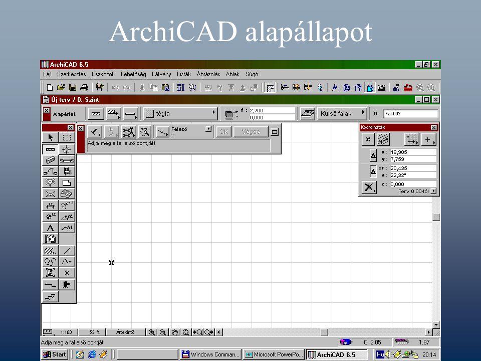 ArchiCAD alapállapot