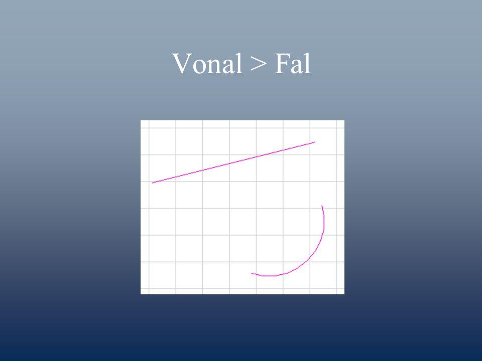 Vonal > Fal