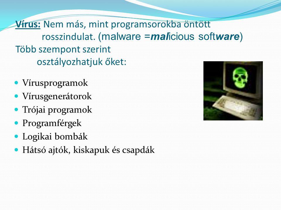 Vírus: Nem más, mint programsorokba öntött rosszindulat