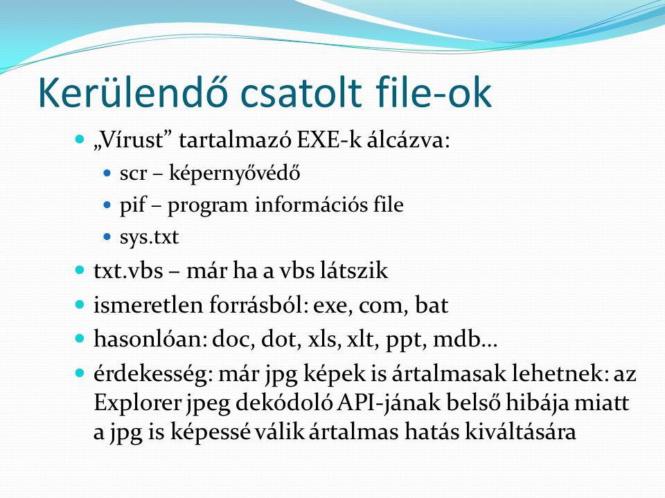 Kerülendő csatolt file-ok