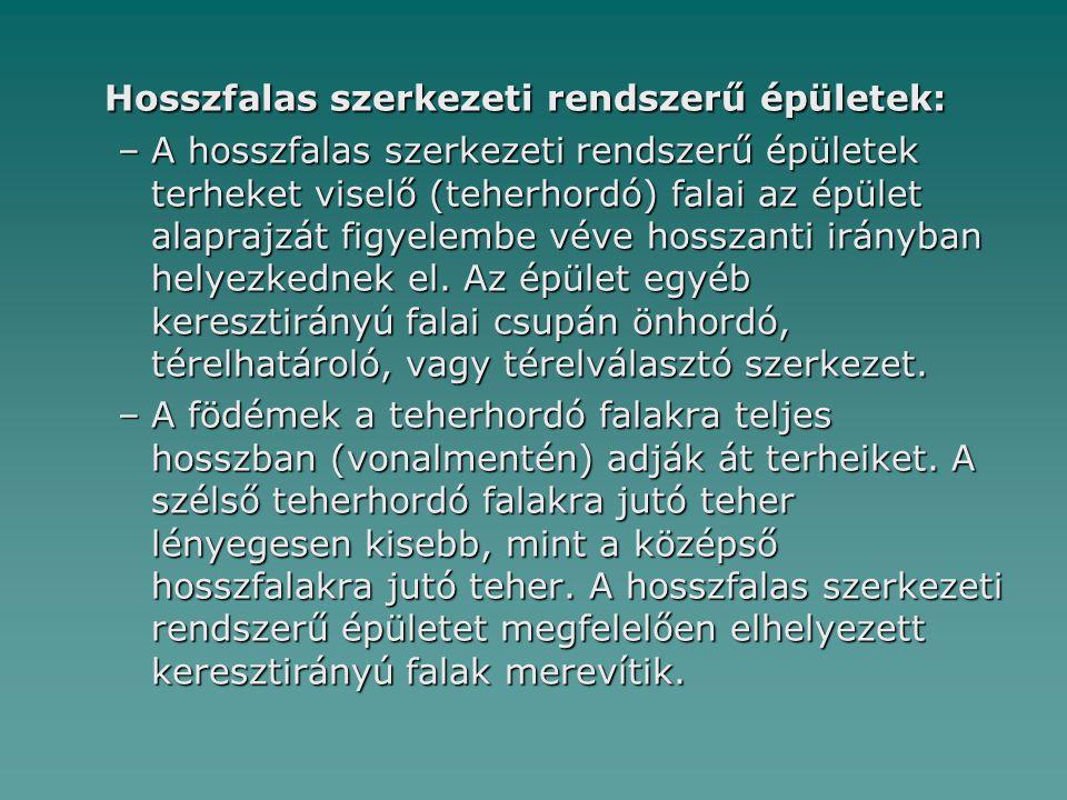 Hosszfalas szerkezeti rendszerű épületek: