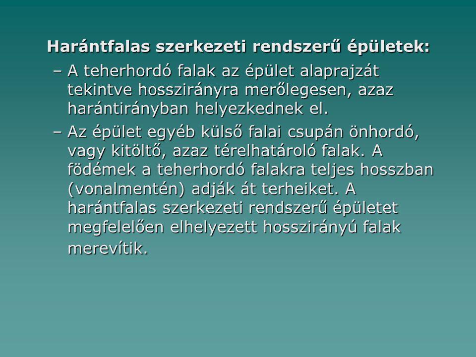 Harántfalas szerkezeti rendszerű épületek: