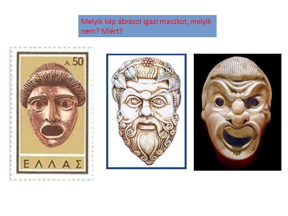 Melyik kép ábrázol igazi maszkot, melyik nem Miért