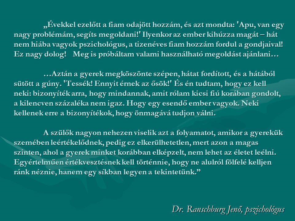 Dr. Ranschburg Jenő, pszichológus