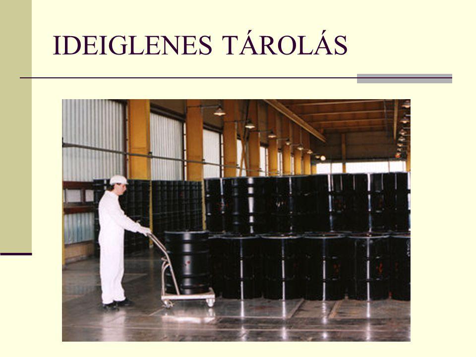 IDEIGLENES TÁROLÁS