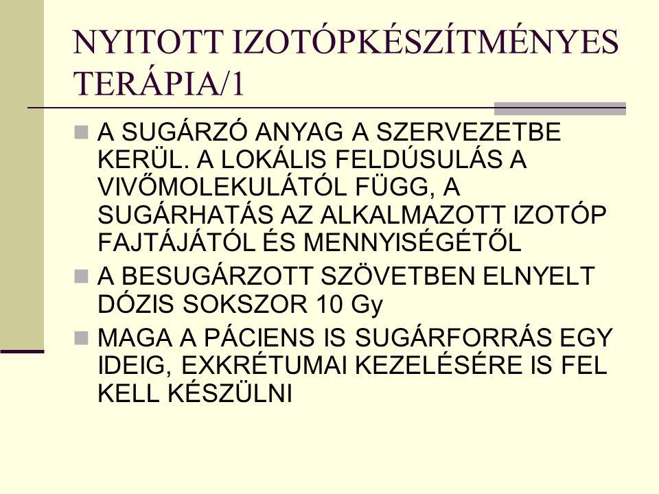 NYITOTT IZOTÓPKÉSZÍTMÉNYES TERÁPIA/1