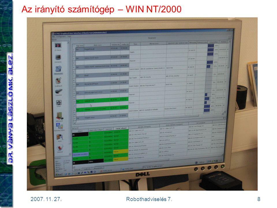 Az irányító számítógép – WIN NT/2000
