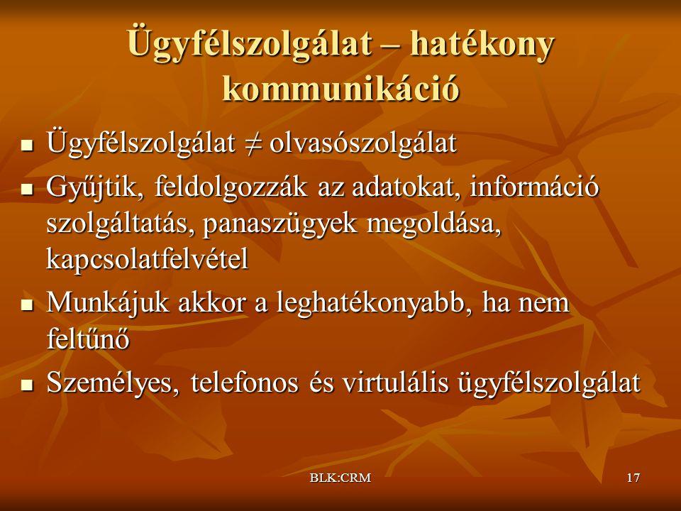 Ügyfélszolgálat – hatékony kommunikáció