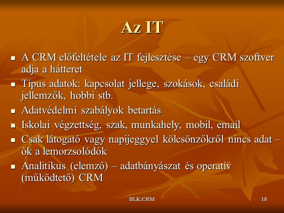 Az IT A CRM előfeltétele az IT fejlesztése – egy CRM szoftver adja a hátteret.