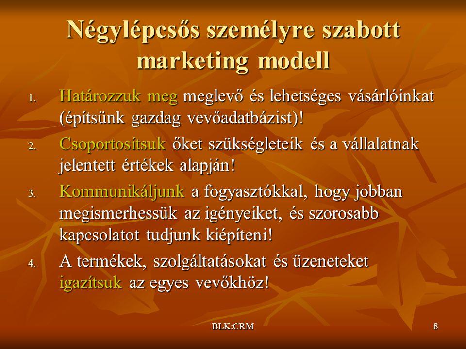 Négylépcsős személyre szabott marketing modell