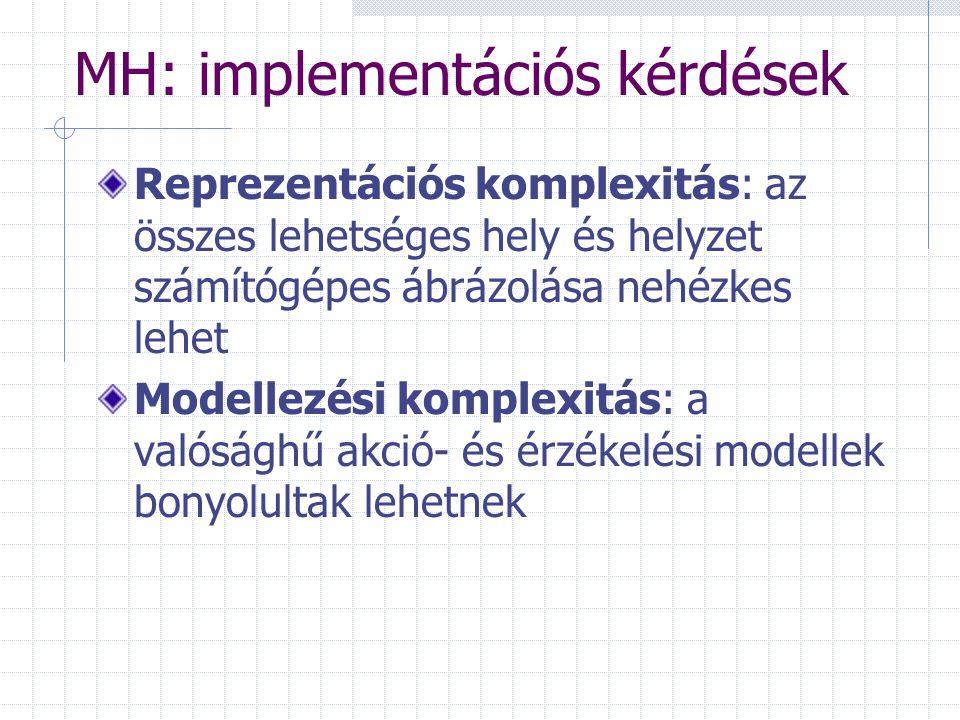 MH: implementációs kérdések