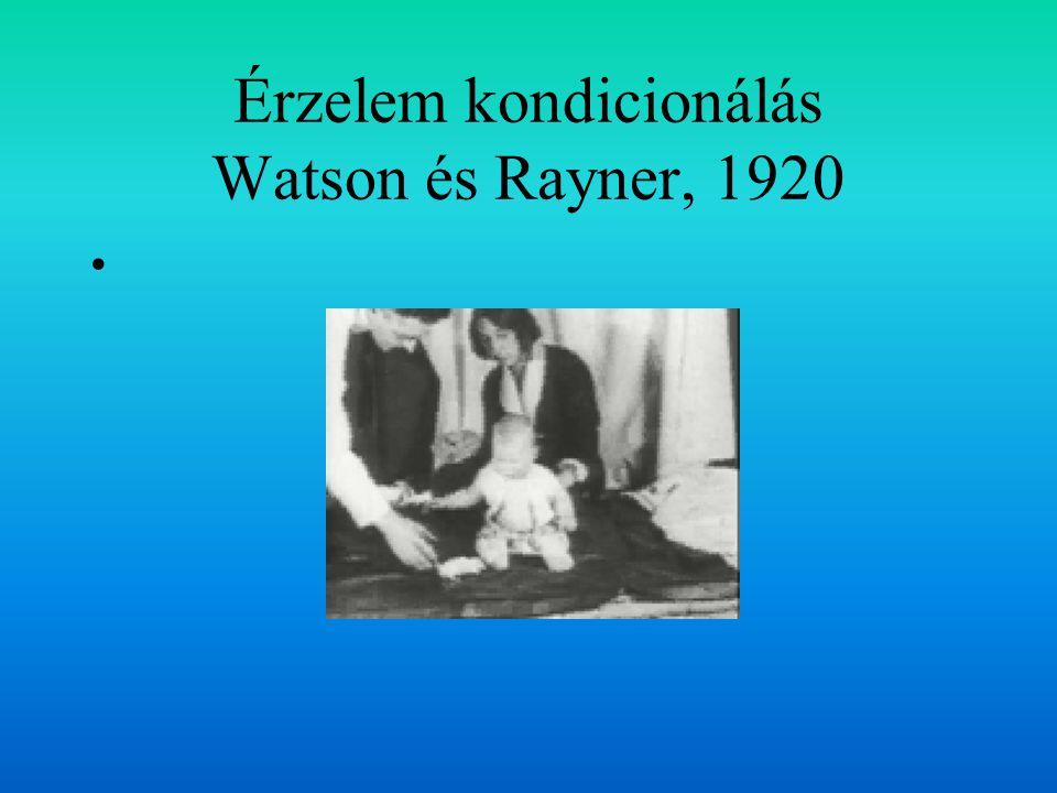 Érzelem kondicionálás Watson és Rayner, 1920