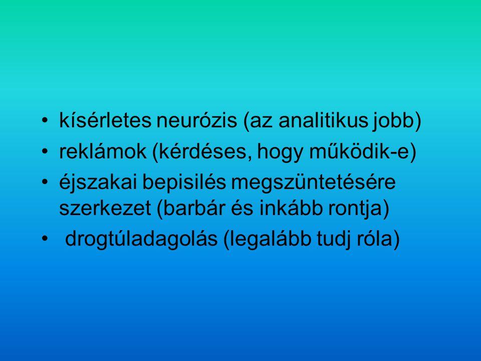 kísérletes neurózis (az analitikus jobb)