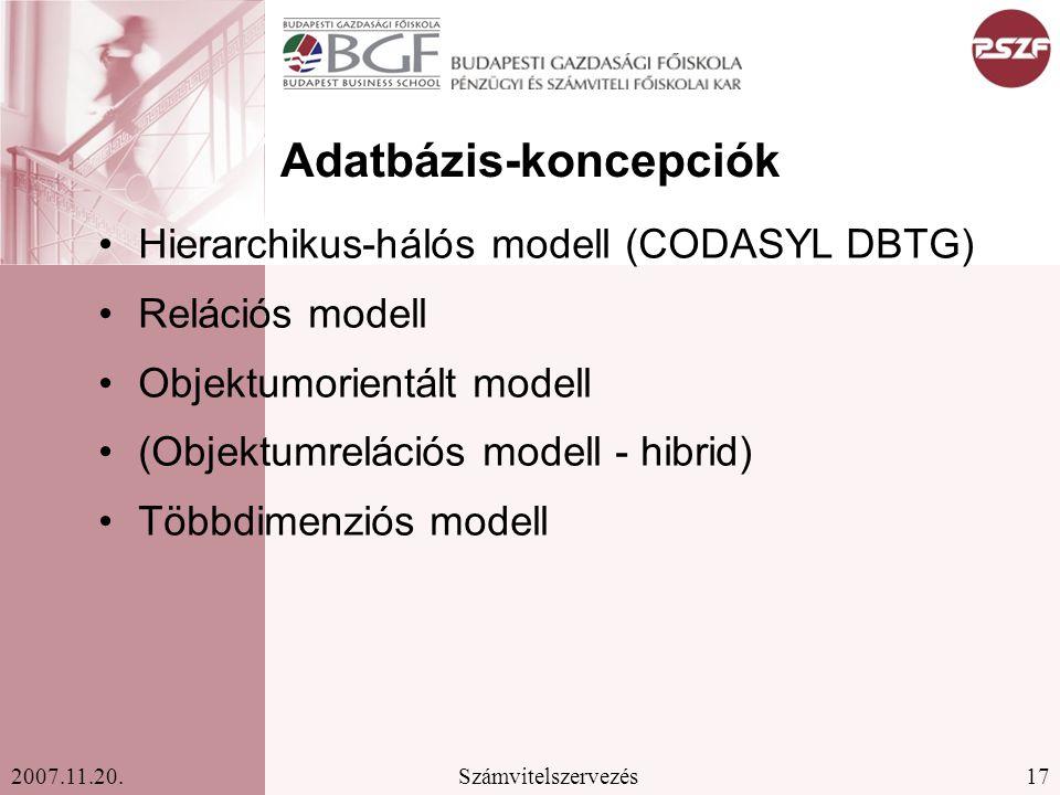 Adatbázis-koncepciók