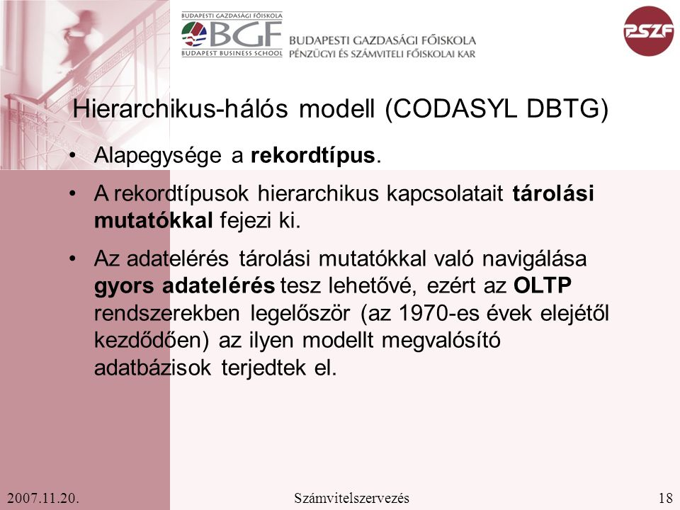 Hierarchikus-hálós modell (CODASYL DBTG)