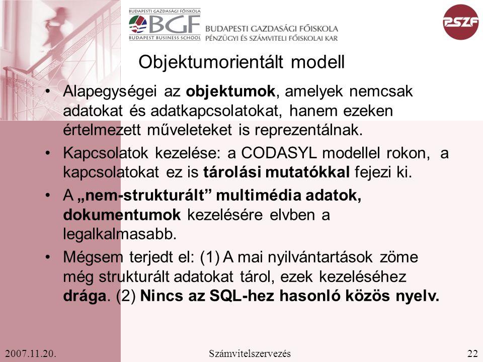 Objektumorientált modell