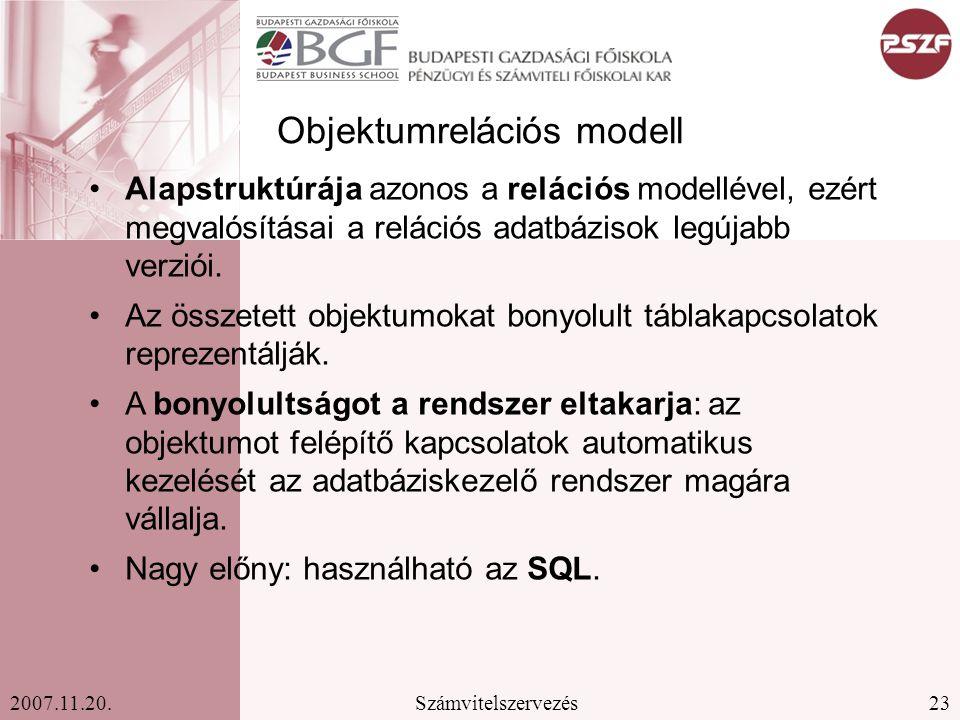 Objektumrelációs modell