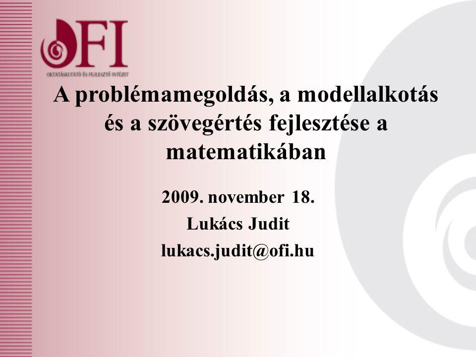 2009. november 18. Lukács Judit lukacs.judit@ofi.hu