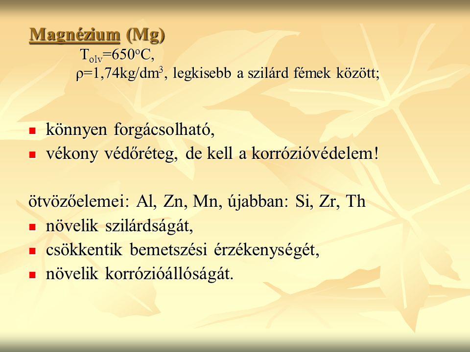 Magnézium (Mg). Tolv=650oC,