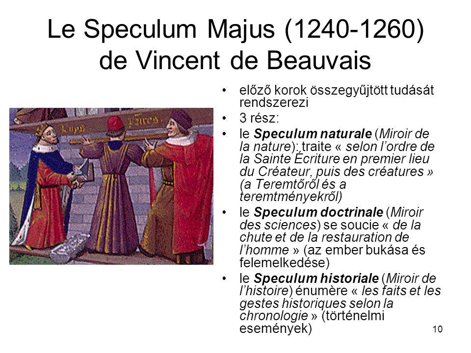 Le Speculum Majus (1240-1260) de Vincent de Beauvais