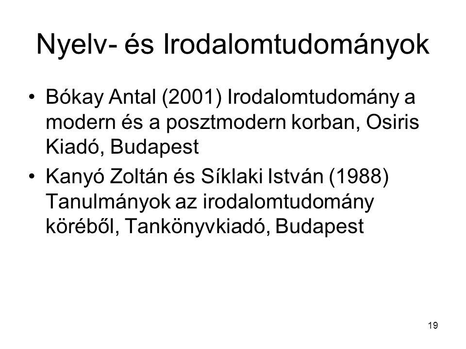 Nyelv- és Irodalomtudományok