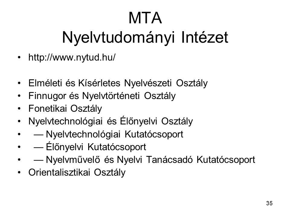 MTA Nyelvtudományi Intézet