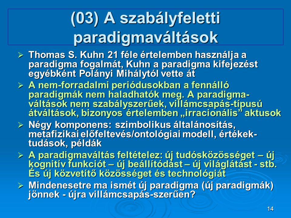 (03) A szabályfeletti paradigmaváltások
