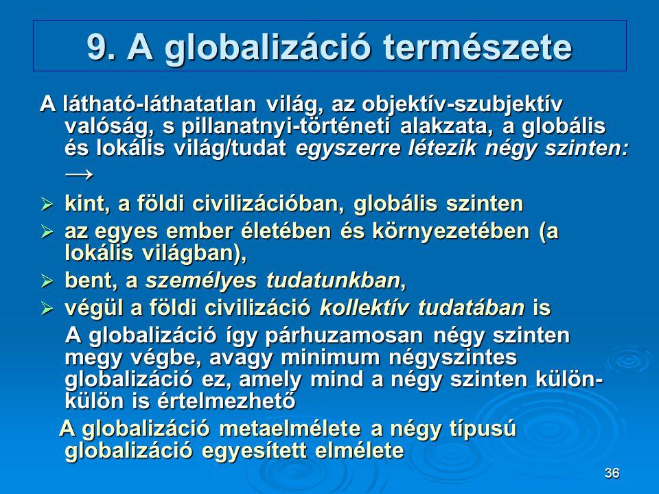 9. A globalizáció természete