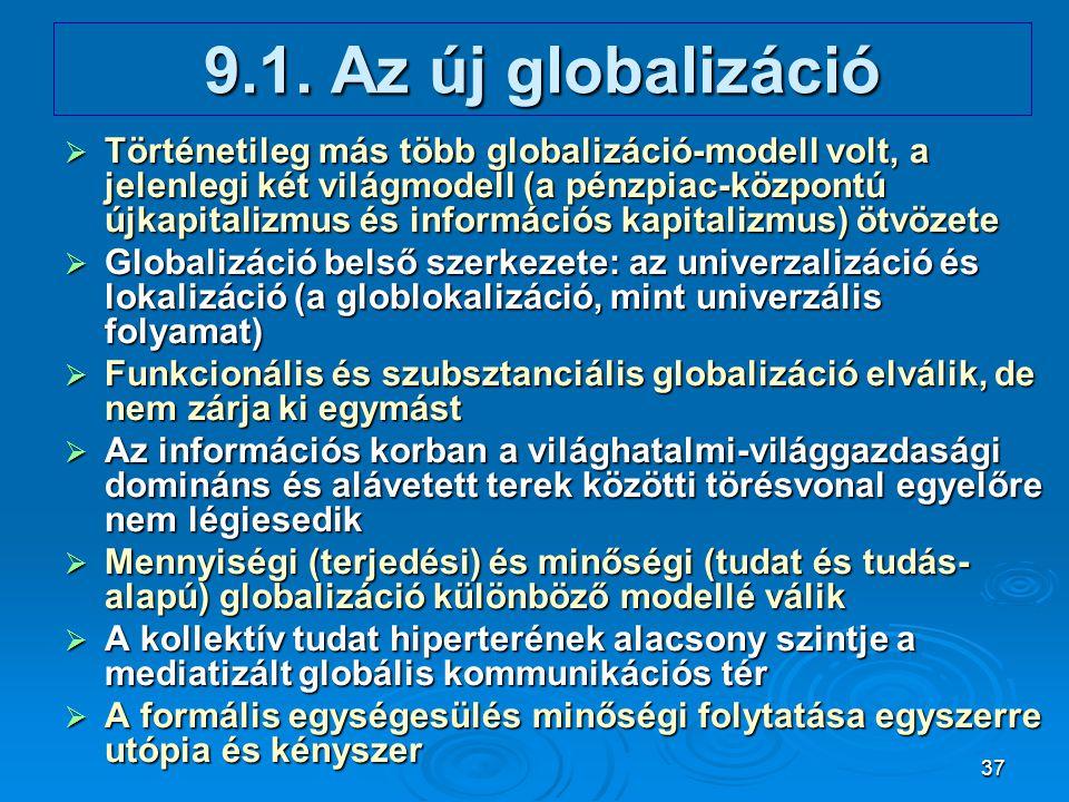 9.1. Az új globalizáció
