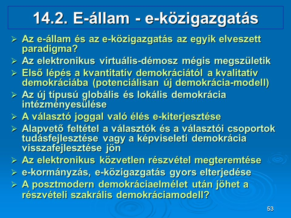 14.2. E-állam - e-közigazgatás