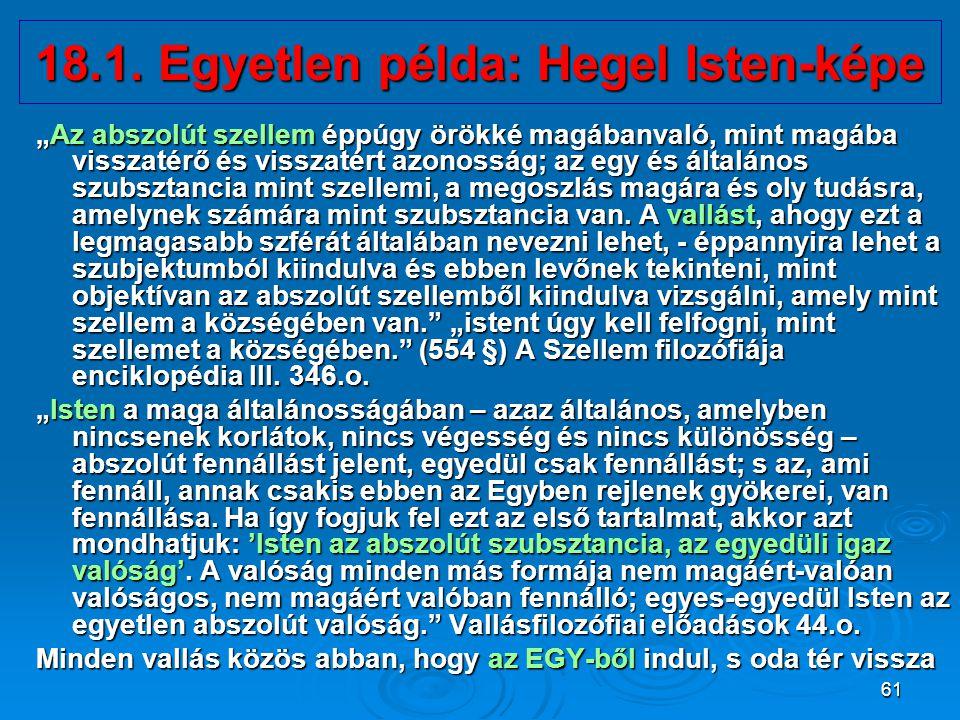 18.1. Egyetlen példa: Hegel Isten-képe