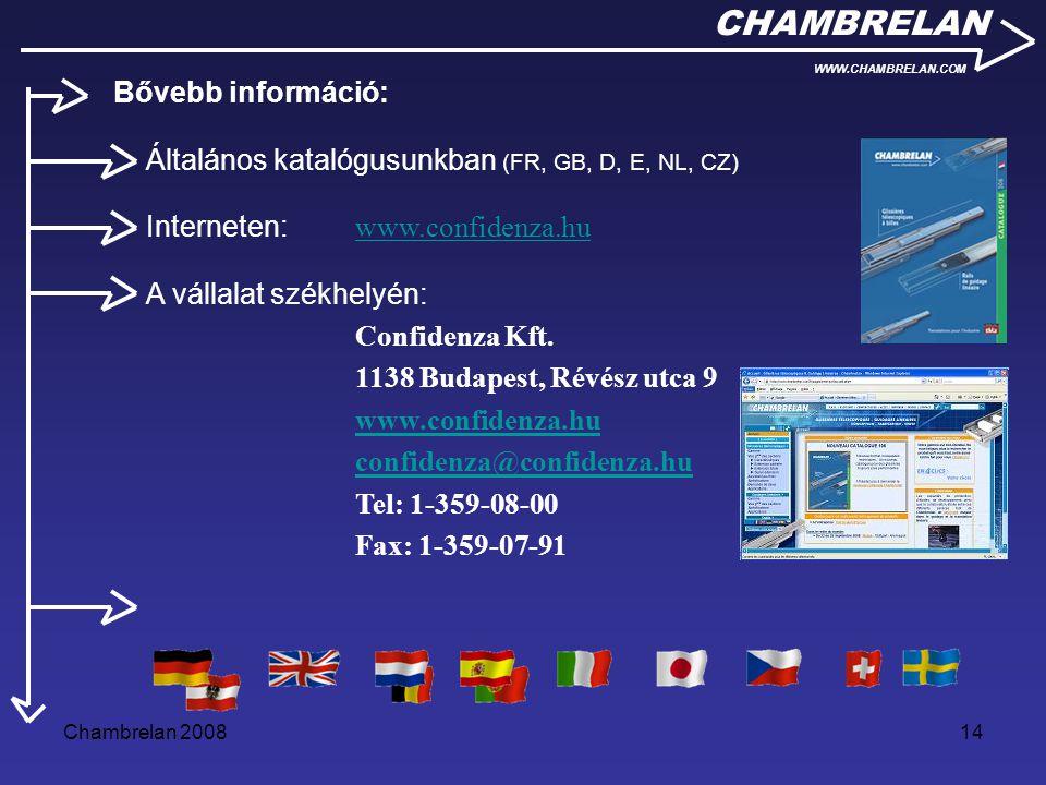 CHAMBRELAN Bővebb információ: