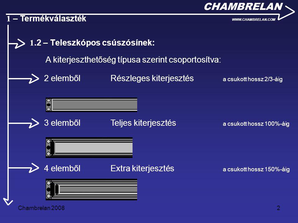 1.2 – Teleszkópos csúszósínek: