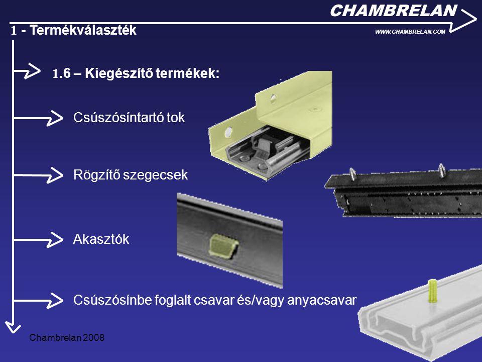 1.6 – Kiegészítő termékek: