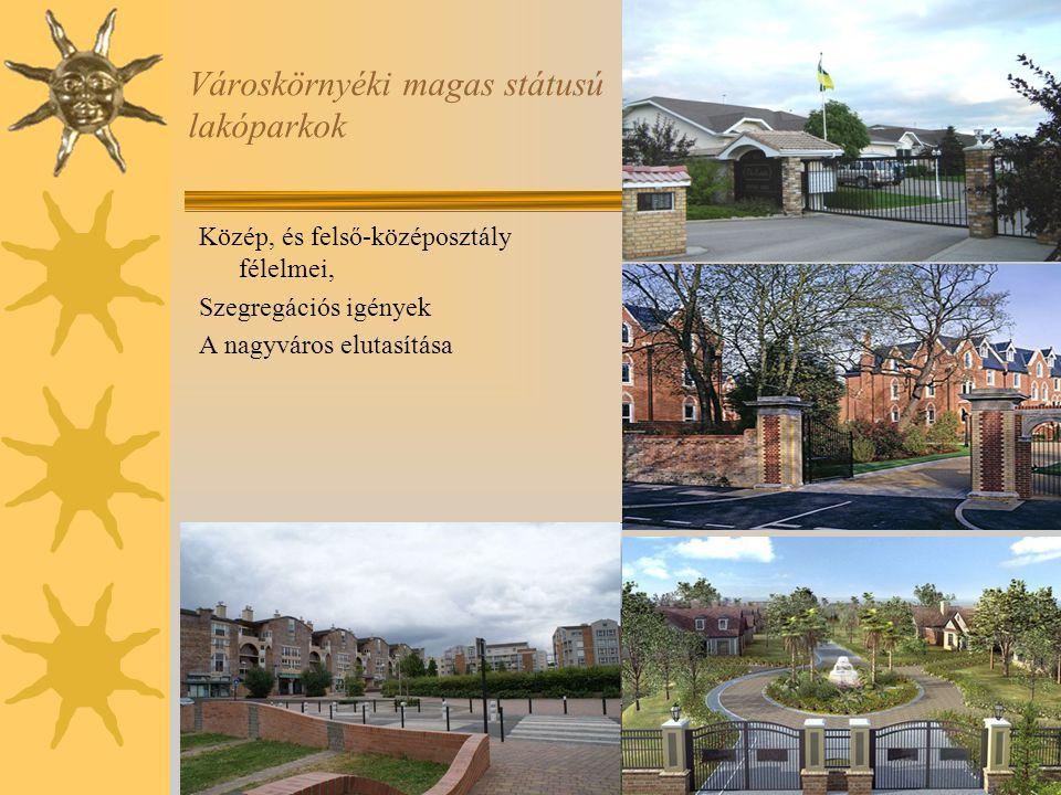 Városkörnyéki magas státusú lakóparkok