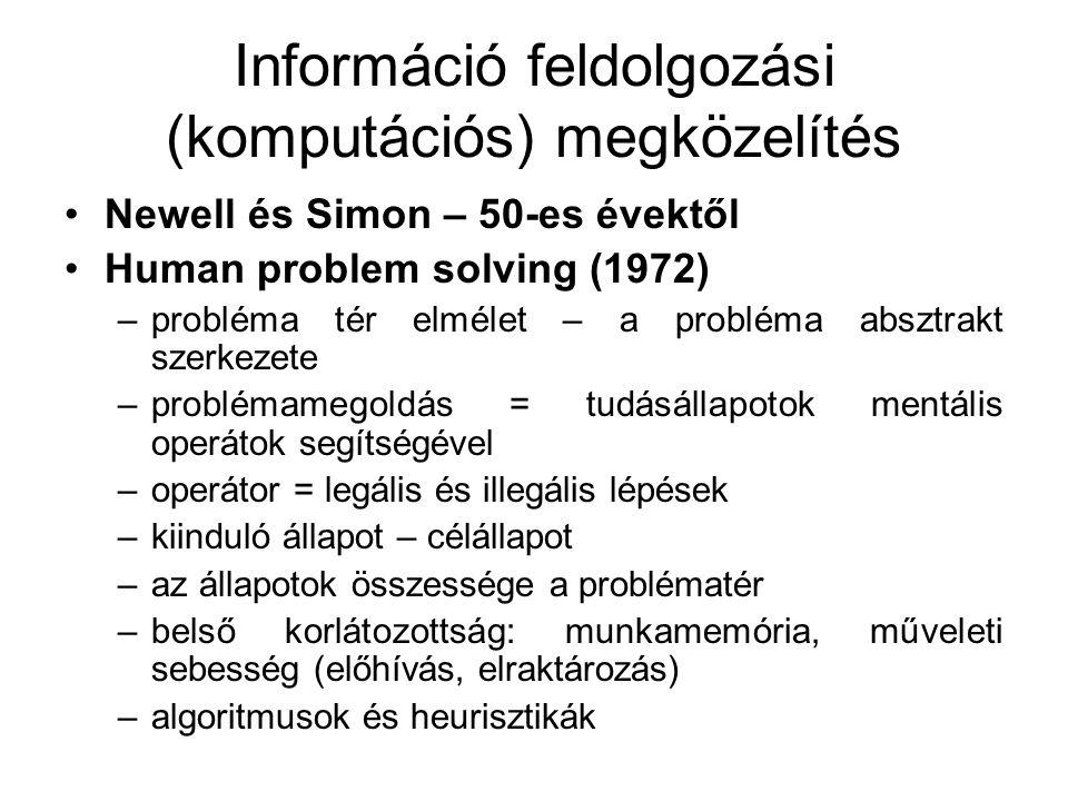 Információ feldolgozási (komputációs) megközelítés