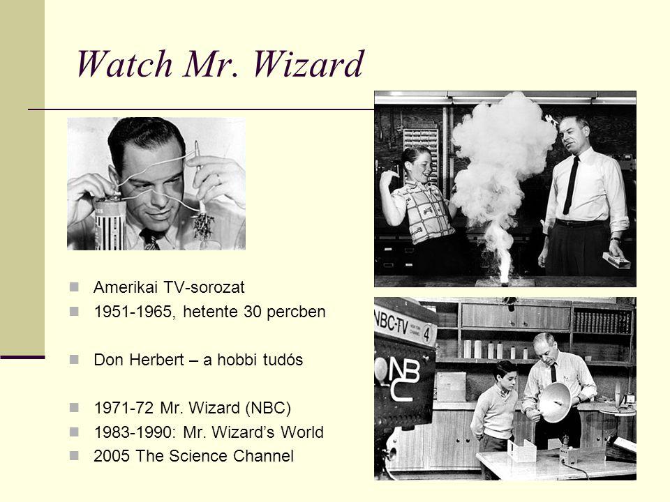 Watch Mr. Wizard Amerikai TV-sorozat 1951-1965, hetente 30 percben