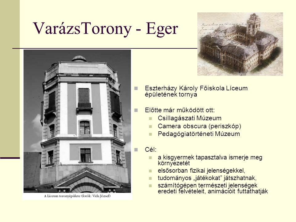 VarázsTorony - Eger Eszterházy Károly Főiskola Líceum épületének tornya. Előtte már működött ott: Csillagászati Múzeum.