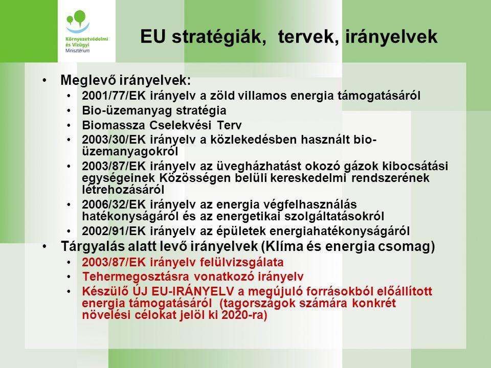 EU stratégiák, tervek, irányelvek