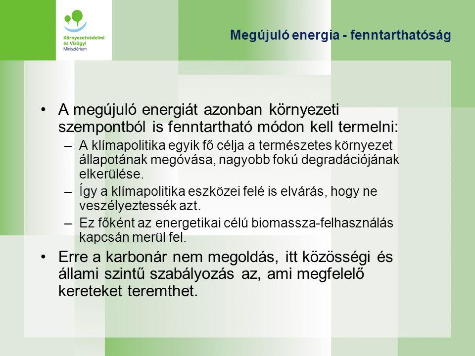 Megújuló energia - fenntarthatóság