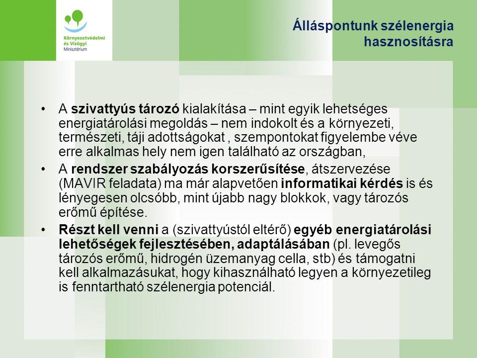 Álláspontunk szélenergia hasznosításra