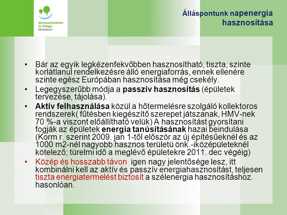 Álláspontunk napenergia hasznosítása